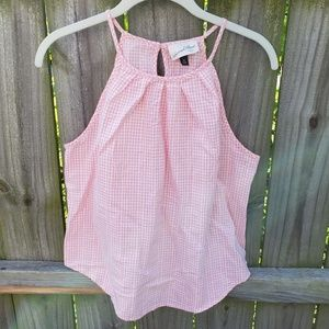 Pink Gingham Tank Medium Universal Goods Cotton